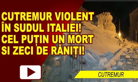 Cutremur violent in Italia: un mort si zeci de raniti