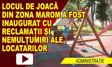 LOCUL DE JOACĂ DE LA MAROM, DAT ÎN FOLOSINȚĂ, CU DISCUȚII ÎN CONTRADICTORIU