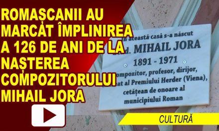 MARCAREA A 126 DE ANI DE LA NASTEREA LUI MIHAIL JORA