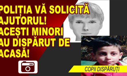 Poliția solicită sprijinul cetățenilor pentru găsirea a doi minori, plecați de la domiciliu
