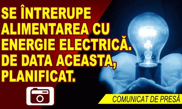 ÎNTRERUPERI PROGRAMATE ALE ENERGIEI ELECTRICE