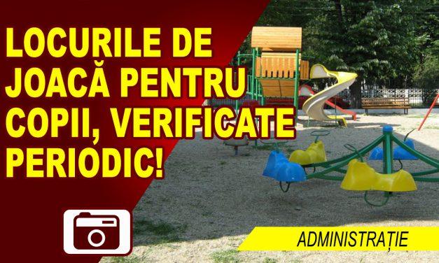 LOCURILE DE JOACĂ PENTRU COPII, PERMANENT VERIFICATE