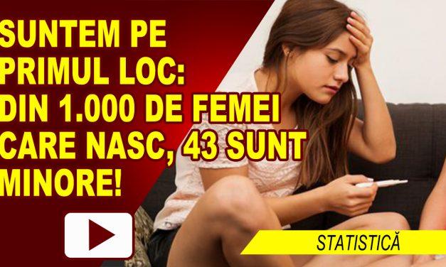 TOT MAI MULTE COPILE CU COPII: DIN 1.000 DE MAME, 43 SUNT MINORE!