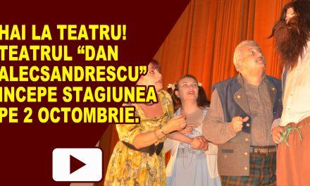 """Teatrul """"Dan Alecsandrescu""""anunță deschiderea stagiunii 2017-2018"""