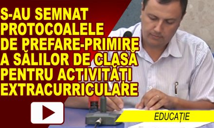 S-au semnat protocoalele de predare a sălilor de clasă pentru activități extracuriculare