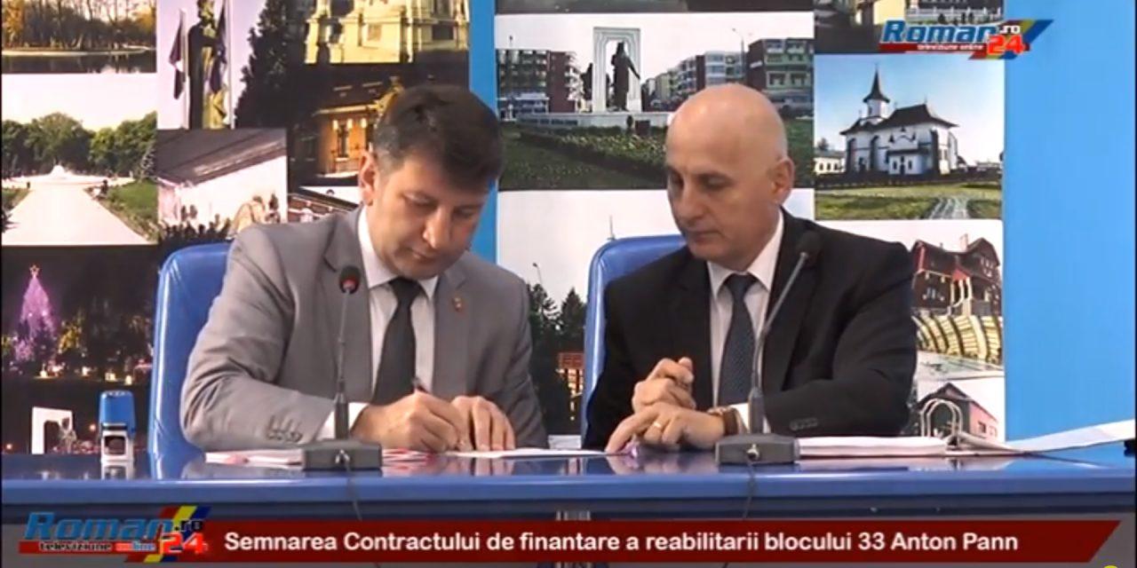 Semnarea Contractului de finantare a reabilitarii blocului 33 Anton Pann