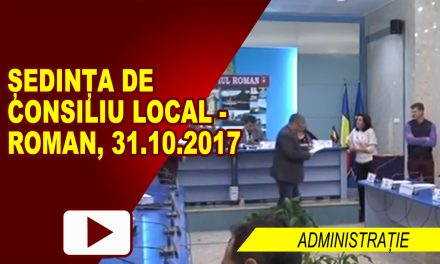 Sedinta Ordinara de Consiliu Local 31.10.2017