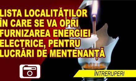 UNDE ȘI CÂND SE ÎNTRERUPE FURNIZAREA ENERGIEI ELECTRICE