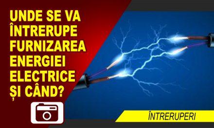 ÎNTRERUPERI ALE FURNIZĂRII CURENTULUI ELECTRIC