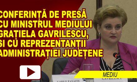 Conferinta de presa pe probleme de mediu cu ministrul mediului, Gratiela Gavrilescu