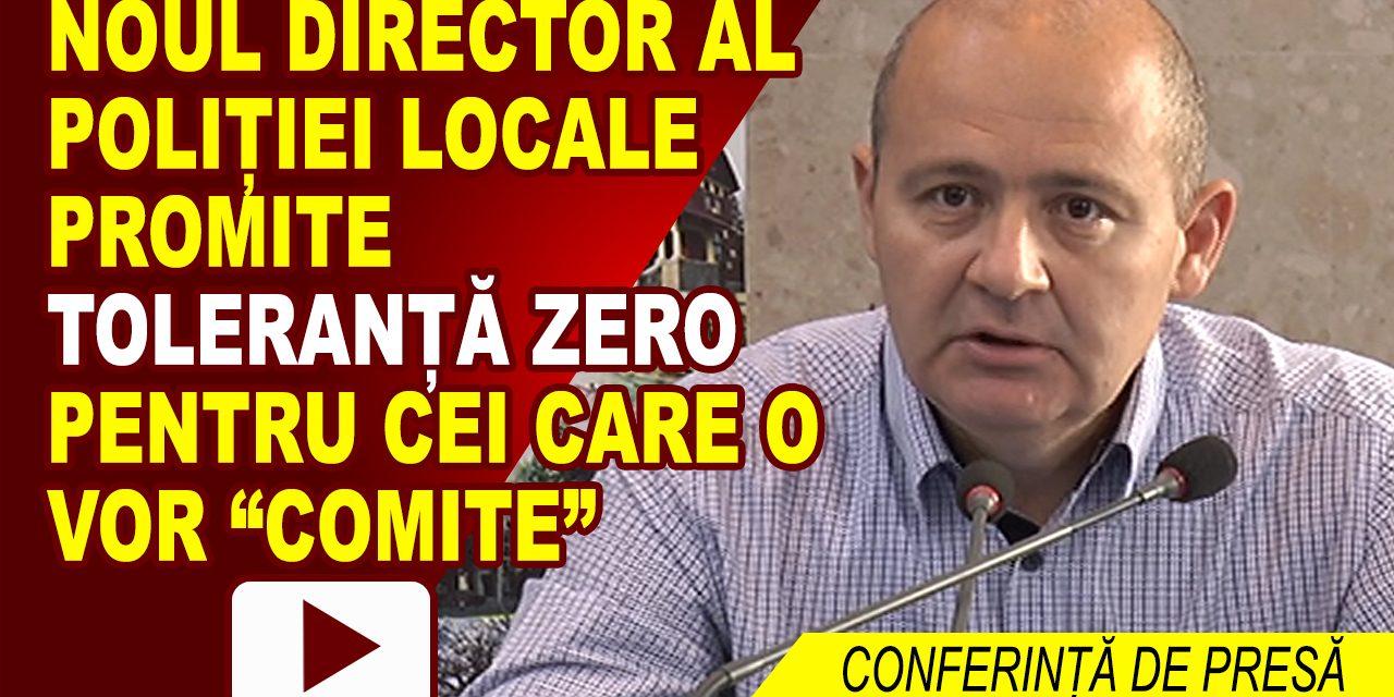 CONFERINȚĂ DE PRESĂ DE PREZENTARE A DIRECTORULUI POLIȚIEI LOCALE ROMAN, CRISTIAN MALEI