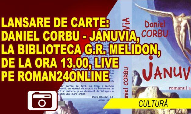 """Scriitorul Daniel Corbu își lansează romanul """"Junuvia"""" și la Roman"""