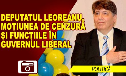 DEPUTATUL LEOREANU, MOȚIUNEA DE CENZURĂ ȘI FUNCȚIILE ÎN GUVERNUL LIBERAL