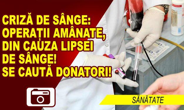 SOS pentru donarea de sânge!