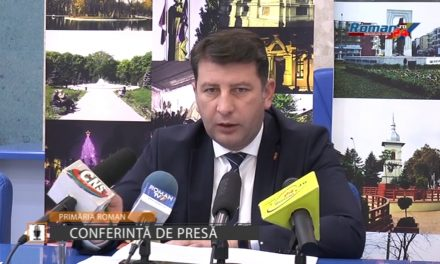 Conferinta de presa Primaria Roman – 20 Noiembrie 2017
