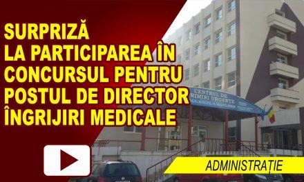 POSTUL DE DIRECTOR ÎNGRIJIRI MEDICALE, SCOS LA CONCURS
