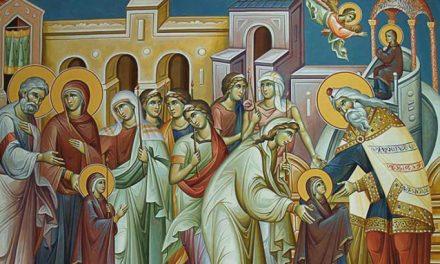 Sărbătoare MARE pe 21 noiembrie. Intrarea Maicii Domnului în Biserică.