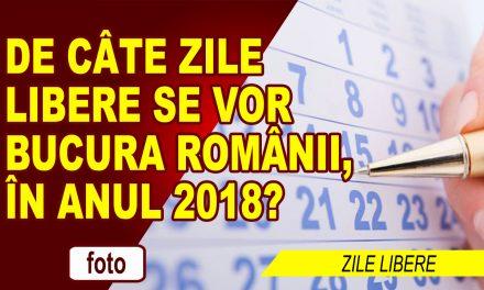 ZILE LIBERE ÎN 2018
