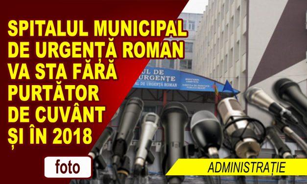 TOT FĂRĂ PURTĂTOR DE CUVÂNT LA SPITAL ȘI ÎN 2018