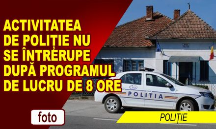 Activitatea de poliție nu se întrerupe după programul de lucru de 8 ore
