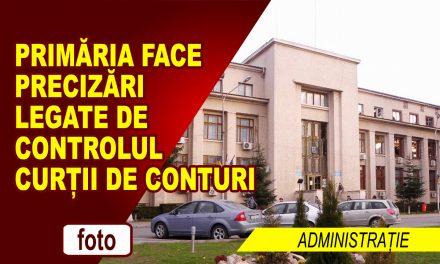 Precizări referitoare la auditul financiar al contului de execuție bugetară pe anul 2016 efectuat de Curtea de Conturi la Primăria municipiului Roman