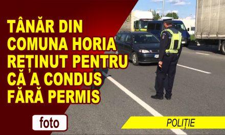 REȚINUT PENTRU CONDUCERE FĂRĂ PERMIS