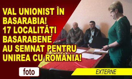 17 localitati din Republica Moldova au votat, până acum, pentru Unire