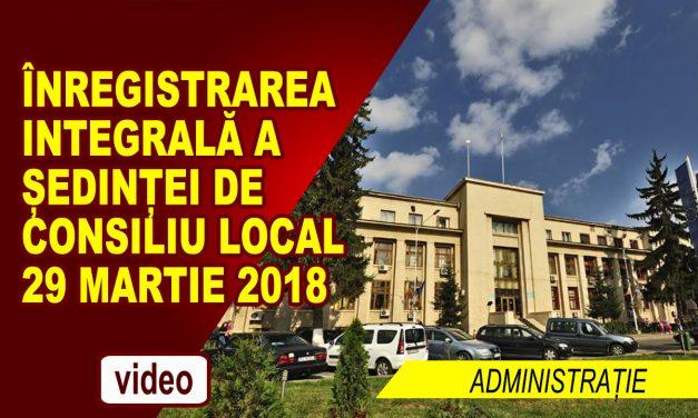 SEDINTA DE CONSILIU LOCAL 29.03.2018