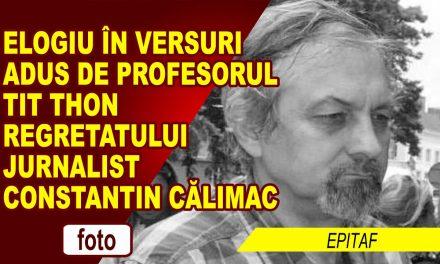 """""""LUI CĂLIMAC"""" – VERSURI SEMNATE DE PROF. TIT TIHON"""