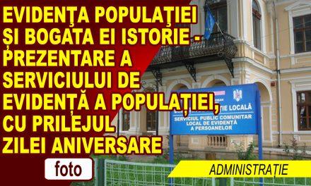 Evidenţa populaţiei și bogata ei istorie – prezentare a Serviciului de evidență a populației, cu prilejul zilei aniversare