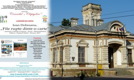 """Live EVENIMENT CULTURAL Ioan Dobreanu, """"File rupte dintr-o carte"""" – memorii, Colecţia Centenar"""