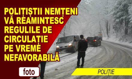 Poliţiştii nemțeni vă reamintesc regulile de circulație pe vreme rea