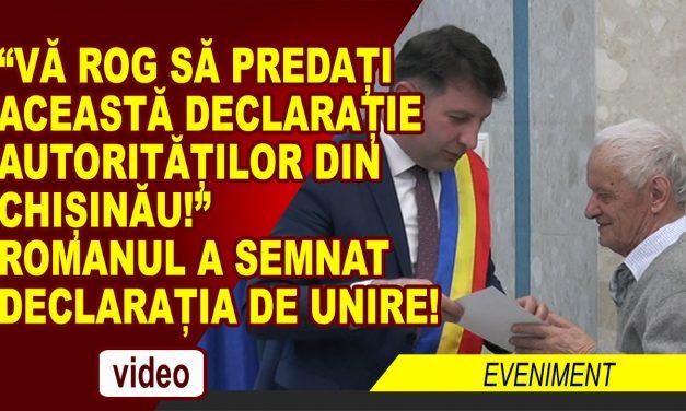 MUNICIPIUL ROMAN A SEMNAT DECLARATIA DE UNIRE