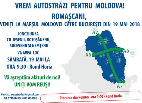 """ROMAȘCANII SUNT INVITAȚI SĂ SE ALĂTURE """"MARȘULUI PENTRU AUTOSTRADĂ"""""""