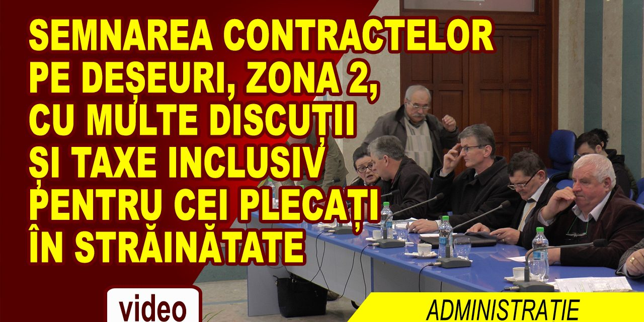 SEMNAREA CONTRACTELOR DE SALUBRITATE, CU MULTE DISCUTII