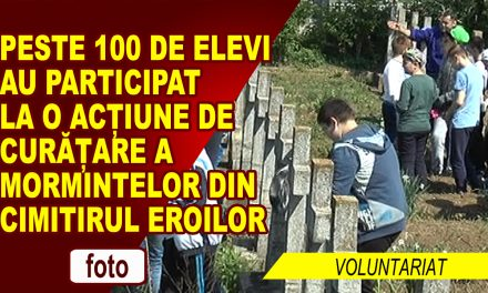 PESTE 100 DE ELEVI, VOLUNTARI IN CIMITIRUL EROILOR