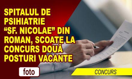 "SPITALUL DE PSIHIATRIE ""SF. NICOLAE"" ANGAJEAZĂ"