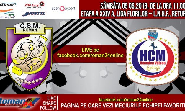 Înregistrarea integrală a partidei dintre CSM Roman – HCM Râmnicu Vâlcea – handbal