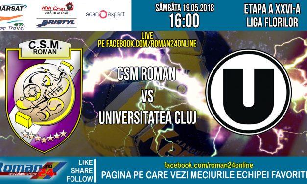 Inregistrarea integrala a meciului de handball CSM Roman – CSU Cluj