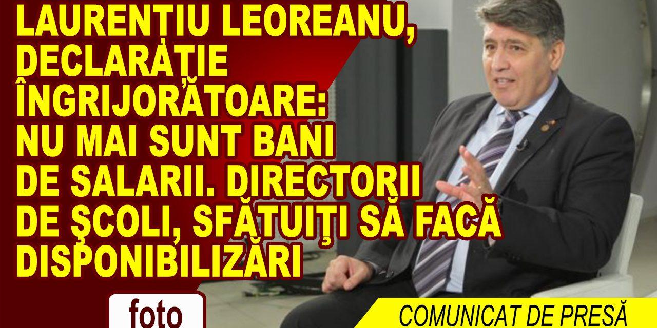 Deputatul Laurenţiu Leoreanu, vicepreşedinte PNL: Ministerul Educației de-abia mai are bani pentru plata salariilor profesorilor