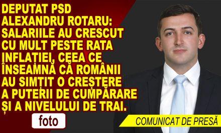 Deputat PSD Alexandru Rotaru, despre salarii și putere de cumpărare