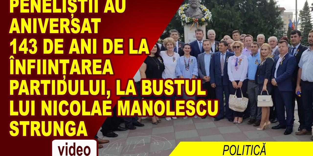 PNL-ul aniversat la bustul lui Nicolae Manolescu Strunga