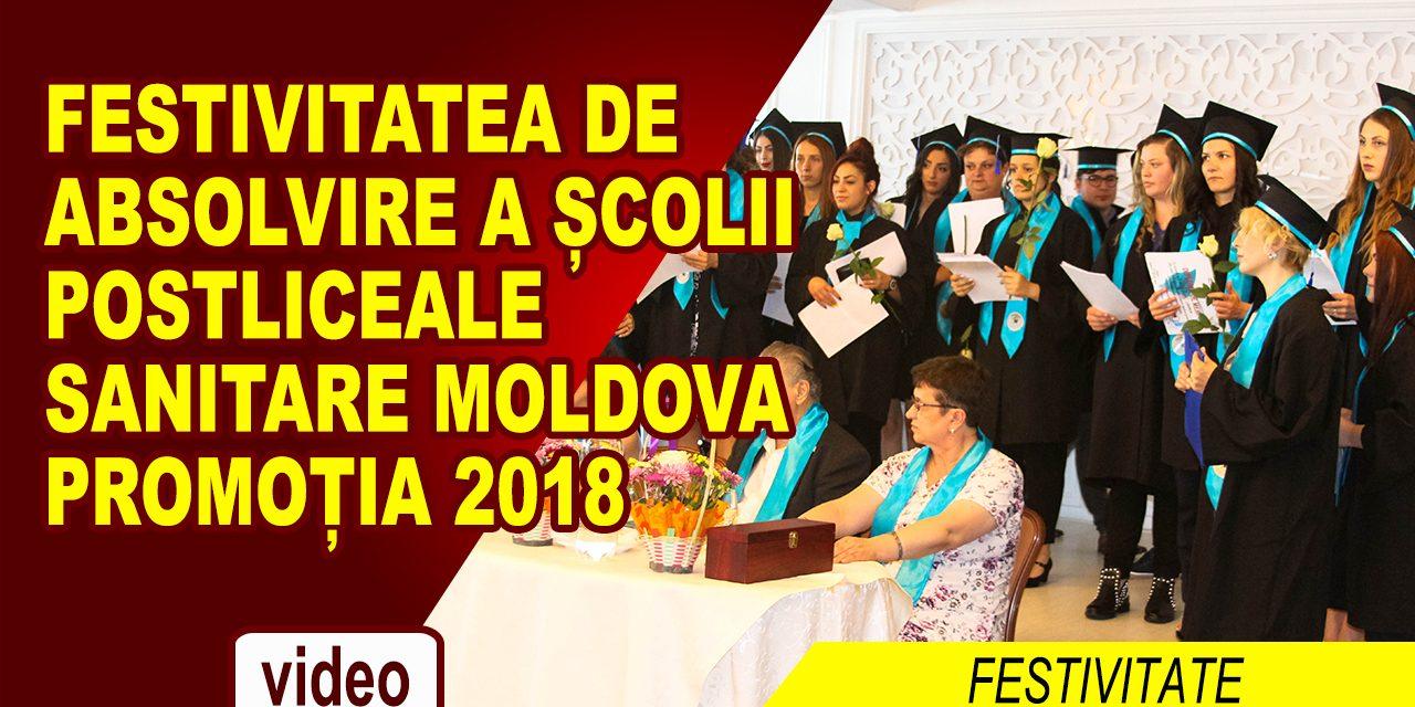 FESTIVITATEA DE ABSOLVIRE A ȘCOLII POSTLICEALE SANITARE MOLDOVA, PROMOȚIA 2018