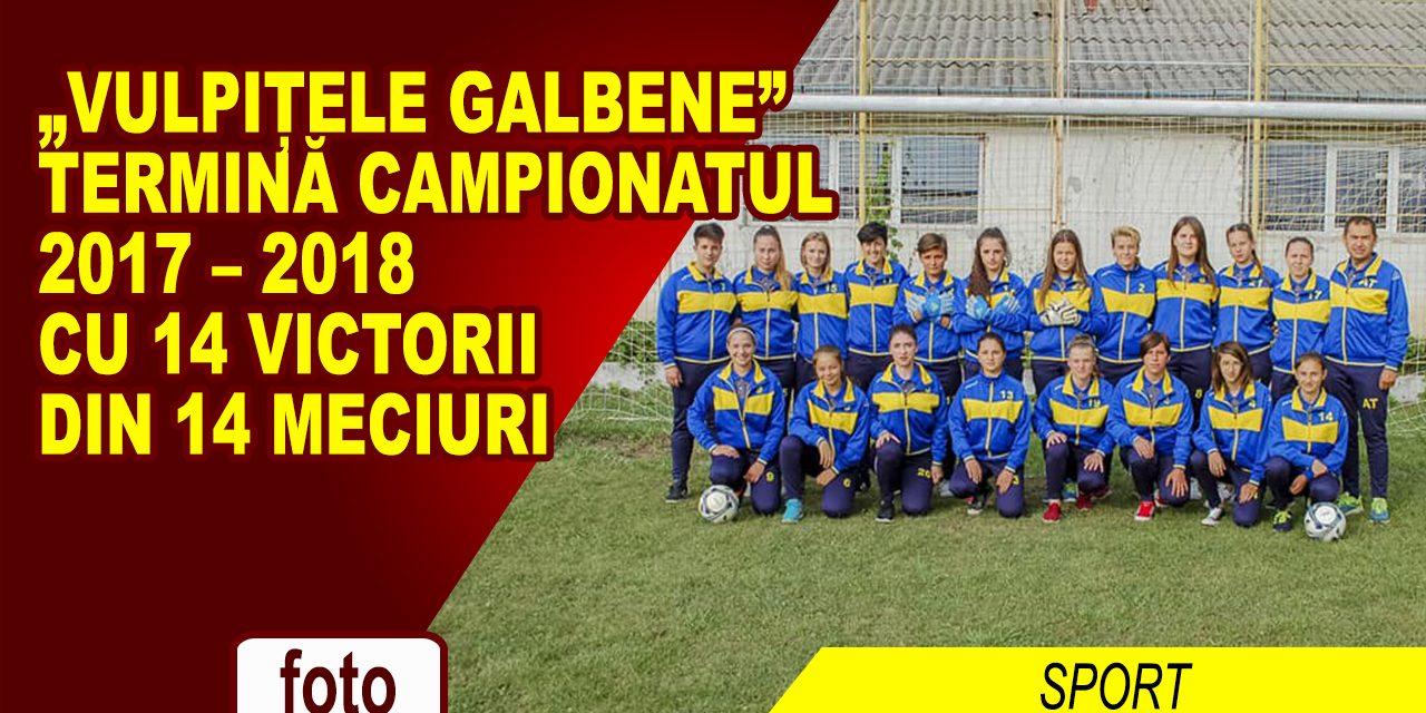 """""""Vulpițele Galbene"""" termină campionatul cu 14 victorii din 14 meciuri!"""