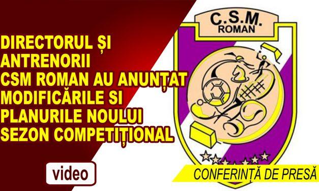 Conferință de presă a CSM Roman – iunie 2018