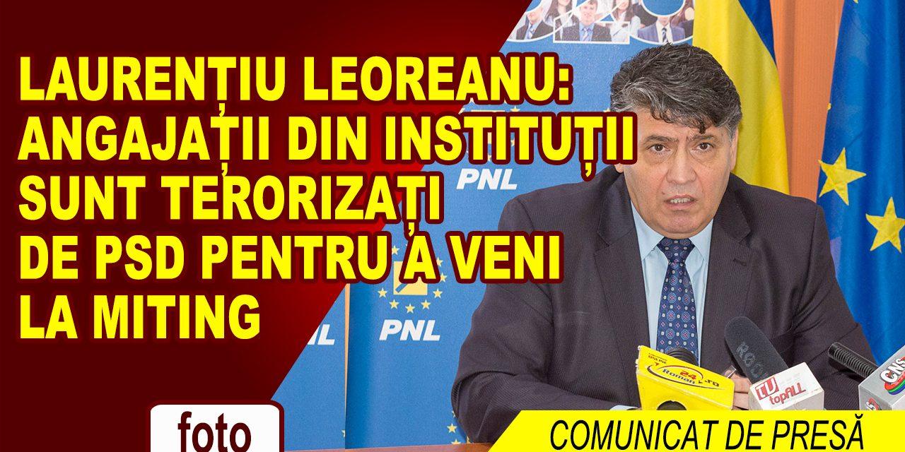 Vicepreședintele PNL Laurențiu Leoreanu: Angajații din instituții sunt terorizați de PSD pentru a veni la miting!