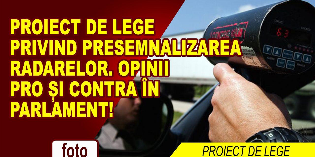 """PROIECT DE LEGE: RADARUL, PRESEMNALIZAT! ADIO """"VÂNĂTOARE"""" DE VITEZOMANI!"""