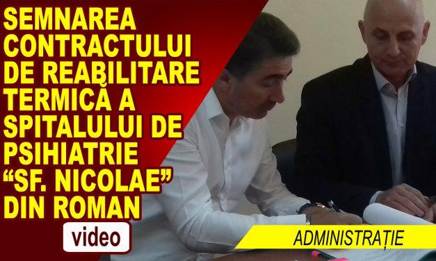 SEMNAREA CONTRACTULUI DE REABILITARE TERMICĂ A SPITALULUI SF. NICOLAE ROMAN
