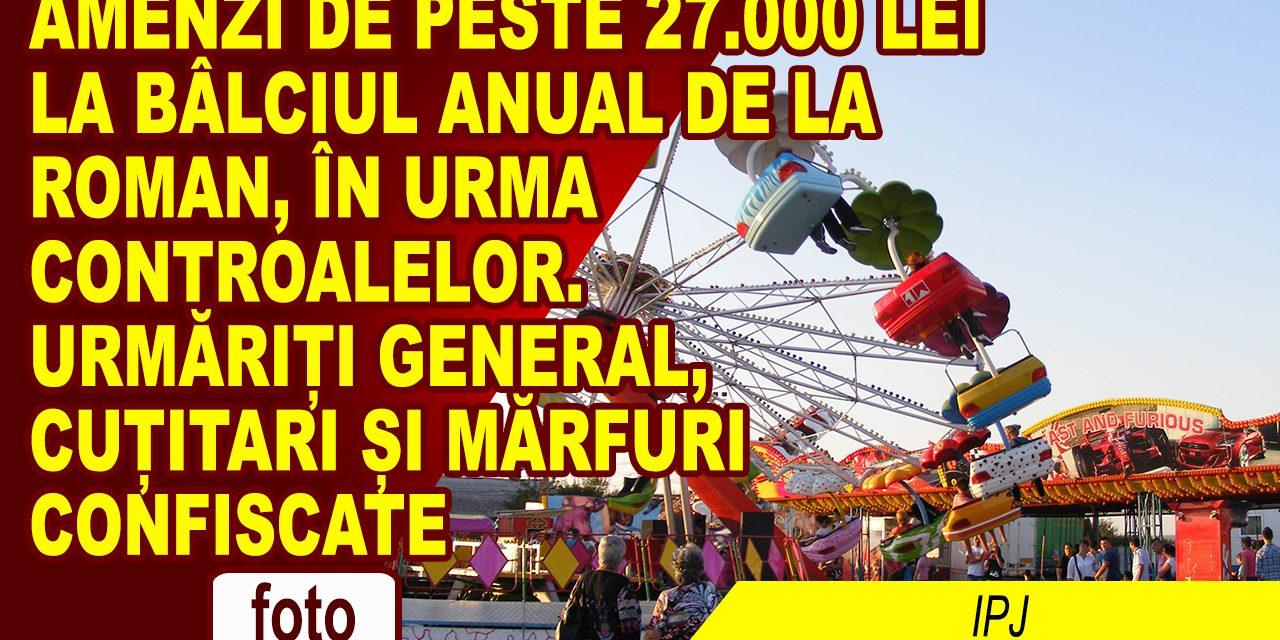 Bâlciul anual, cu amenzi de 27.500 de lei