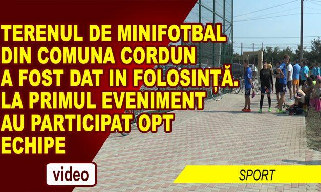 Cordunenii se pot bucura de noul teren de minifotbal